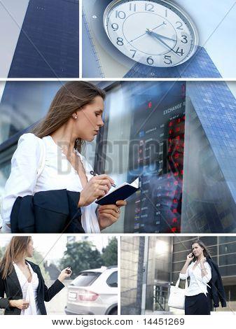 Unternehmen-Collage von Bildern gemacht