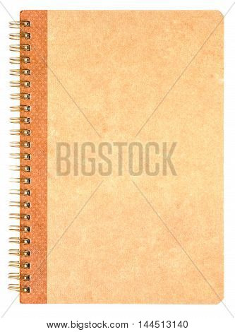Brown notebook paper on a white background.