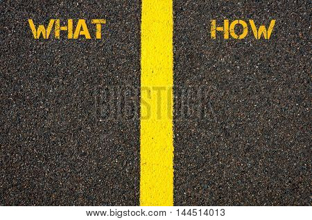 What And How Words Separated By Road Marking Yellow Line