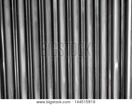 Texture of corrugated zinc under the roof