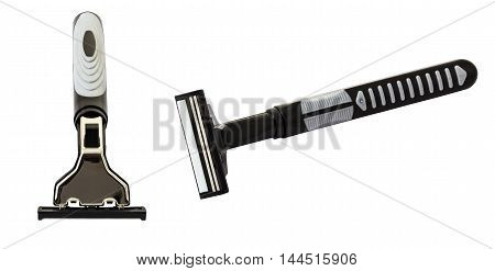 New Razor isolated on white background and clipping path