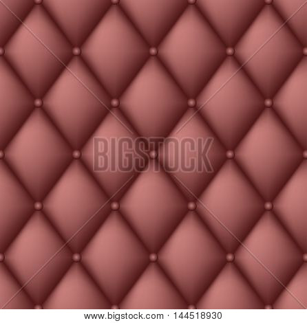 Background - Brown Leather upholstery. Endless texture, Vector