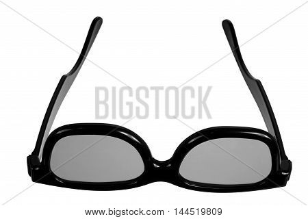 Pair of 3D Glasses on White Background