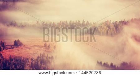 Vintage Amazing Mountain Landscape