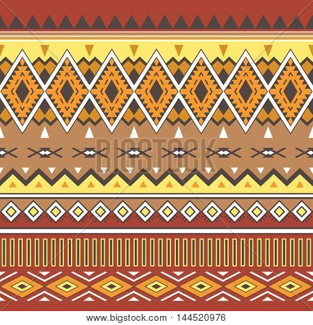 Tribal Boho Seamless Pattern. Ethnic Geometric Ornament. Aztec Print.  Background for Fabric and Wrapping Paper.