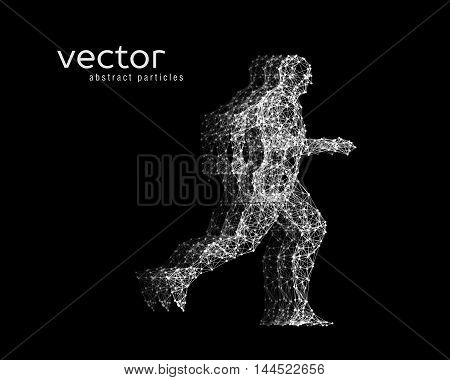 Vector Illustration Of Running Man.