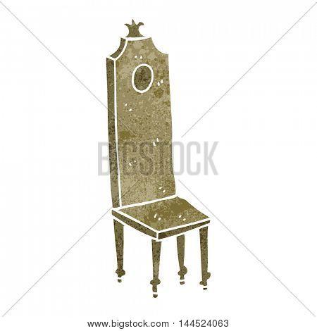 freehand retro cartoon fancy chair