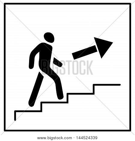 Stairs Up Icon