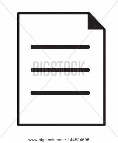 Document Icon in trendy flat style isolated on white background