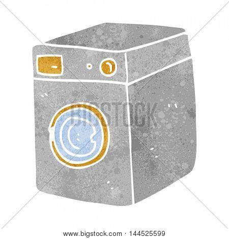 freehand retro cartoon washing machine
