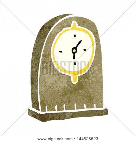freehand retro cartoon old clock