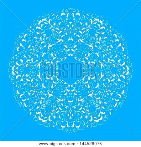 The original circular pattern. Mandala vector background. Abstract circular pattern. Abstract round mandala. Abstract vector background with a circular pattern. Vector illustration.