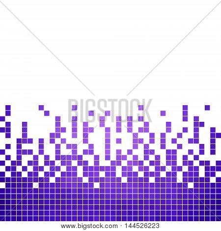 abstract vector square pixel mosaic background - purple and violet
