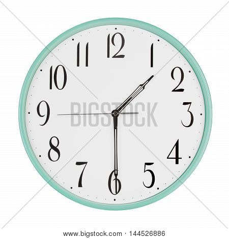 Round clock shows half of the second