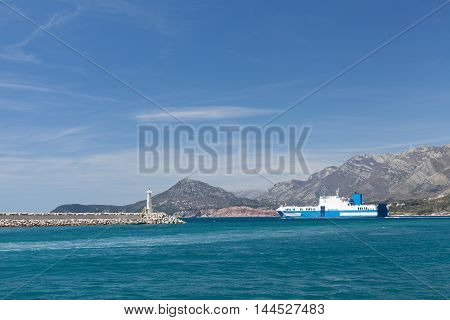 Car carrier leaves the Port of Montenegro
