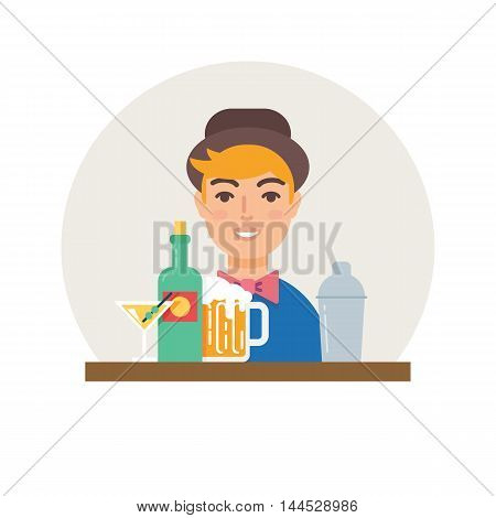 Small business - bar vector illustration flat style