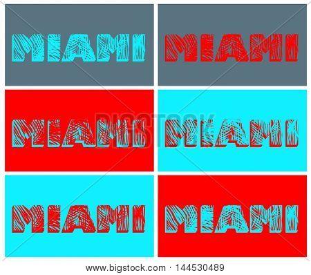 Variation with Miami print