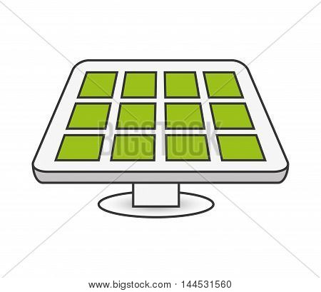 solar panel power energy electricity icon. Flat and isolated design. Vector illustration