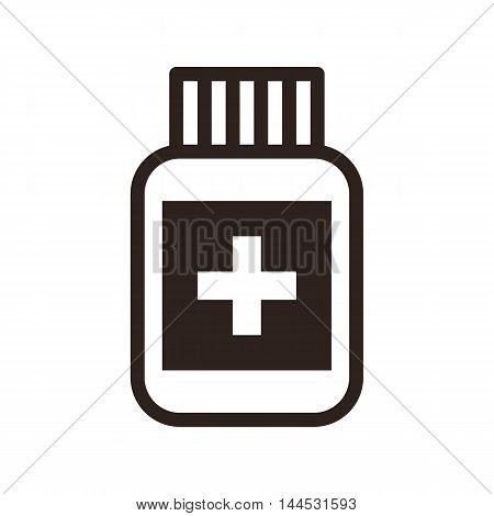 Medicine icon a isolated on white background