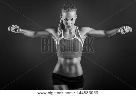 Beautiful Fitness Female Posing