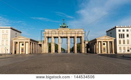 Panorama of the Brandenburger Tor in Berlin in the early morning