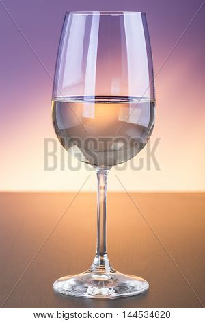 Colorful White Wine Glass