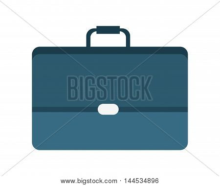 suitcase blue bag travel office business icon. Flat and isolated design. Vector illustration