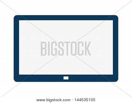 tablet digital display tool technology icon. Flat and isolated design. Vector illustration