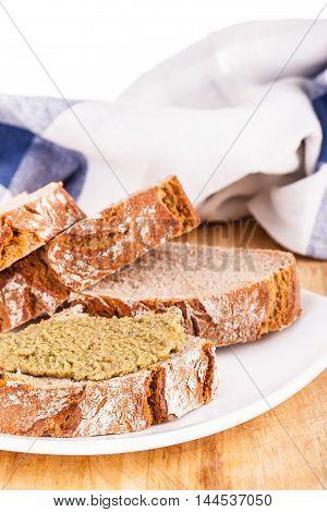 Olive Pate Appetizer Vertical