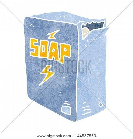 freehand retro cartoon soap box