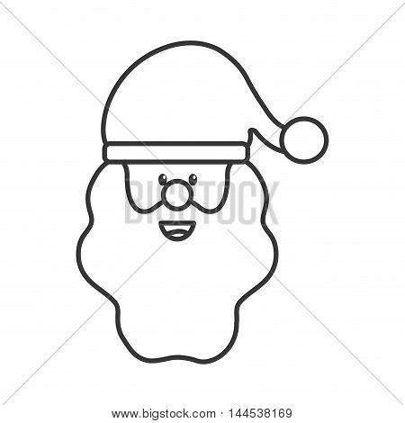 santa merry christmas decoration celebration icon. Flat and isolated design. Vector illustration