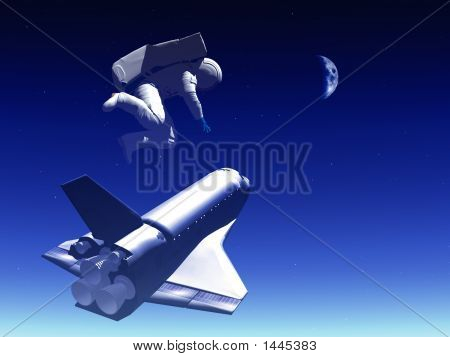 Shuttle In The Sky