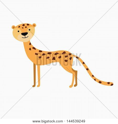 vector illustration of a Jaguar isolated on white background