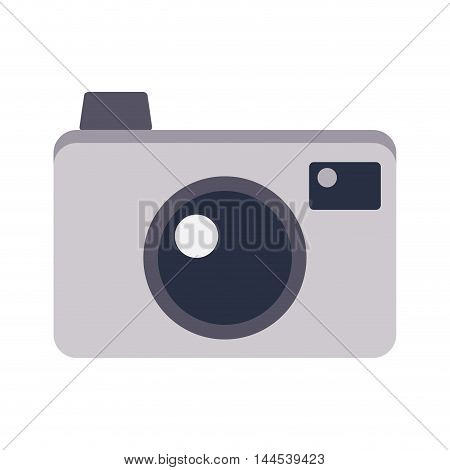 camera photography gadget electronic icon. Flat and isolated design. Vector illustration