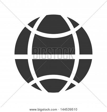 global communication internet sphere icon. Flat and isolated design. Vector illustration