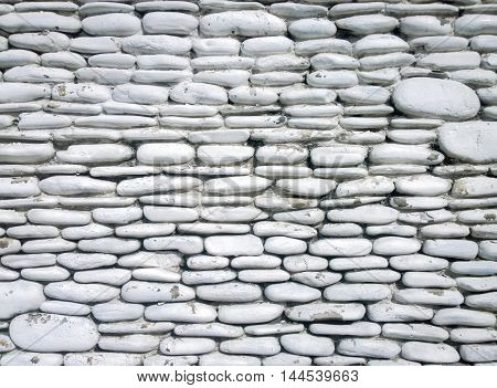 White stone wall background Pattern, Used for texture and background
