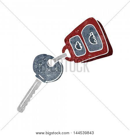 freehand retro cartoon key