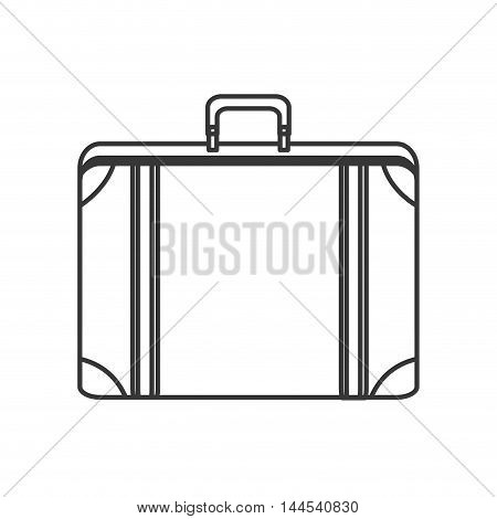 suitcase baggage luggage travel trip icon. Flat and isolated design. Vector illustration