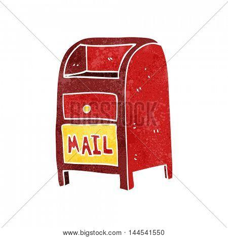 freehand retro cartoon mail box