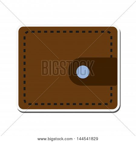 wallet leather money commerce financial icon. Flat and isolated design. Vector illustration