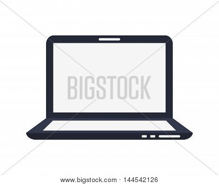 laptop technology gadget electronic icon. Flat and isolated design. Vector illustration