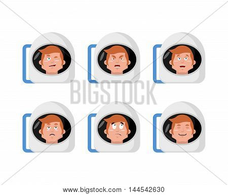 Emotions Astronaut. Set Expressions Avatar Spaceman. Good And Evil. Surprise And Fun. Sad And Aggres