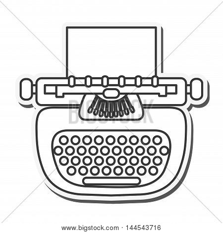 writer machine vintage old message icon. Flat and isolated design. Vector illustration