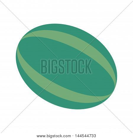 watermelon organic healthy natural food icon. Flat and Isolated illustration. Vector illustration