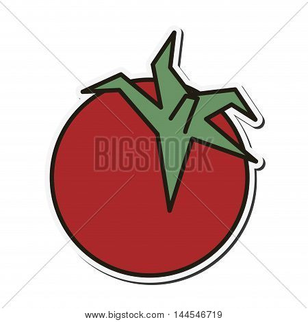 tomato organic healthy natural food icon. Flat and Isolated illustration. Vector illustration