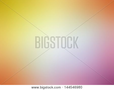 Abstract Gradient Orange Yellow Pink Colored Blurred Background