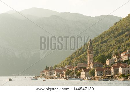 Old town of Perast in the Bay of Kotor, Montenegro