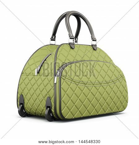 Travel Bag With Compartments. 3D Rendering.