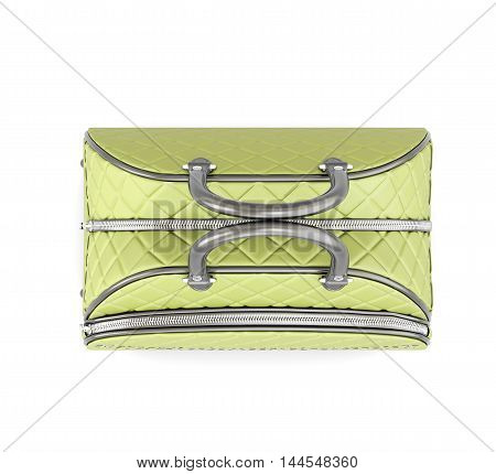 Road Quilted Bag. Top View. 3D Rendering.