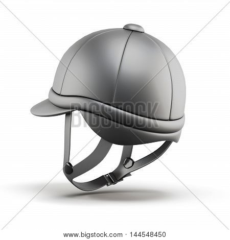 Helmet For Riding. 3D Render Image.